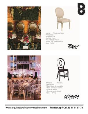 Sillas y mesas para restaurantes