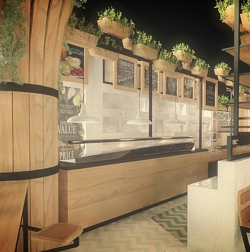 Proyectos de diseño y arquitectura interior para restaurantes (renders)