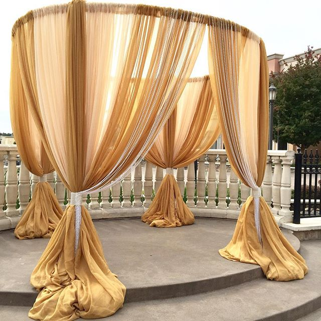 Ceremony & Round Canopy Draping