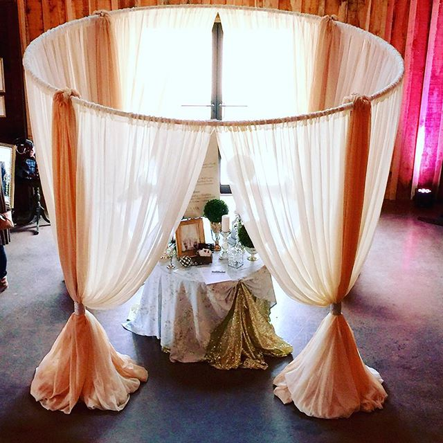 Round Canopy Draping
