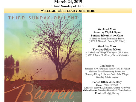 3/24 Parish Bulletin