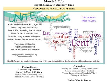 3/3 Parish Bulletin