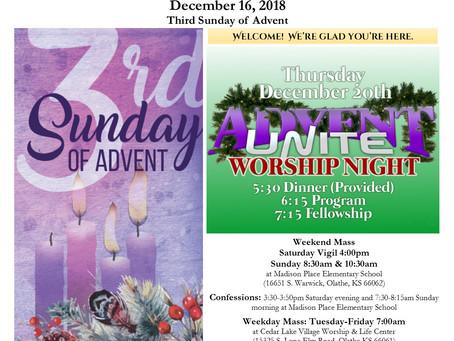 12/16 Parish Bulletin