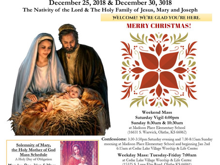 12/25-12/30 Parish Bulletin
