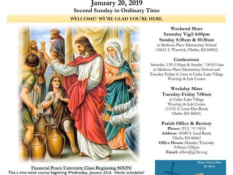 1/20 Parish Bulletin