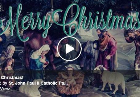 Merry Christmas from St. John Paul II Parish!