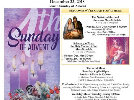 12/23 Parish Bulletin