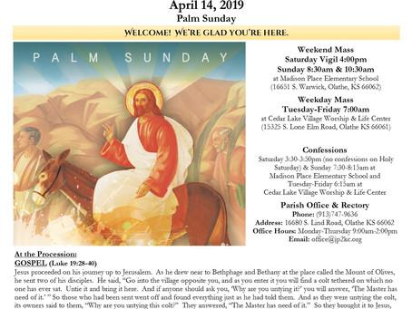 4/14 Parish Bulletin