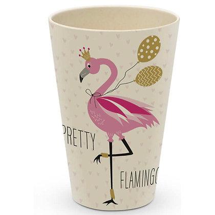Bambusbecher Flamingo