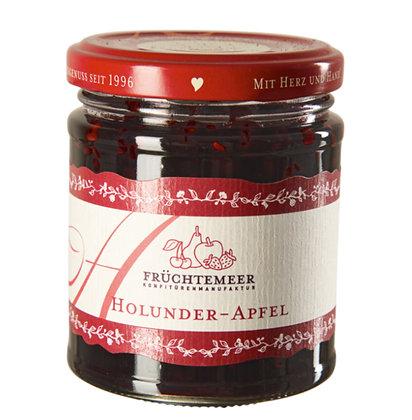 210g Handgemachter Fruchtaufstrich Holunder-Apfel