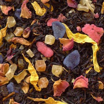 Schwarzer Tee Fleur Violett