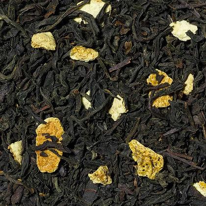 Schwarzer Tee Orange mit Schale