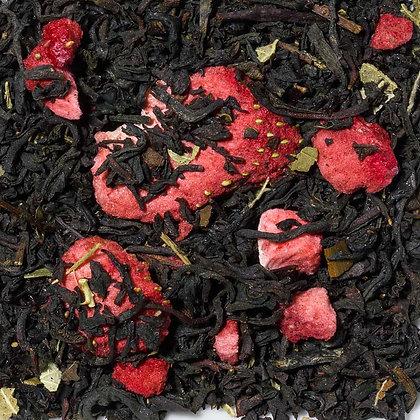 Schwarzer Tee Erdbeer Sahne