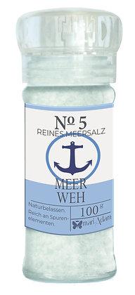 100g Gewürzmühle NO5 MEERWEH -Reines Meersalz- 100g