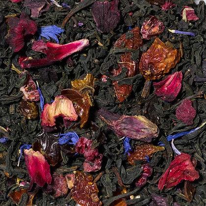 Schwarzer Tee Granatapfel Himbeere