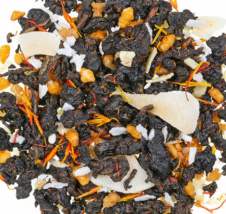 Grüner Oolong Tee Sesam Krokant