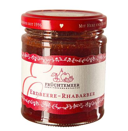210g Handgemachter Fruchtaufstrich Erdbeere-Rhabarber