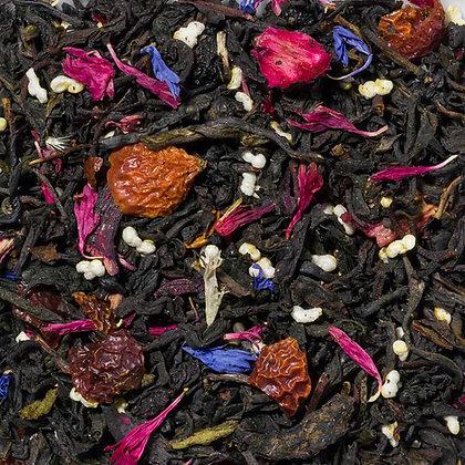 Schwarzer Tee Heidelbeere Sahne