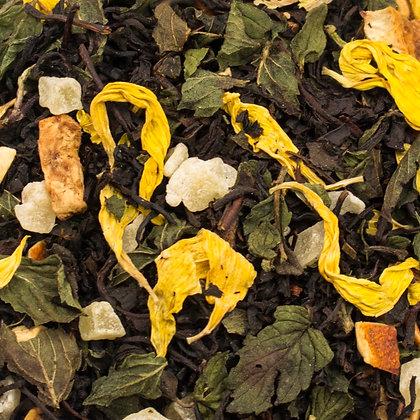 Schwarzer Tee Limette Minze