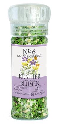 40g Gewürzmühle NO6 KRÄUTER BLUMEN -Salat & Gemüse-  40g