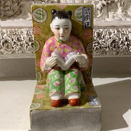 Porzellan Buchstütze Chinese Girl