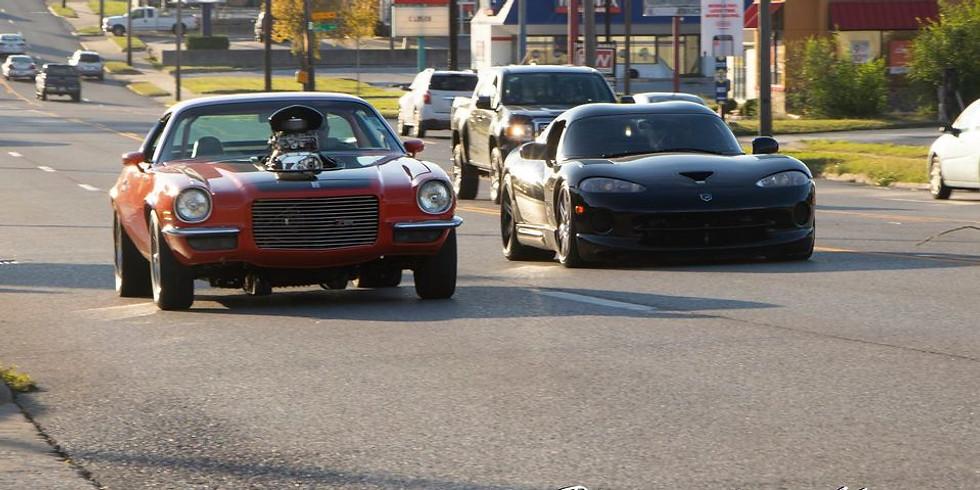 Cruising Kearney Street - August 2021 - Car Show