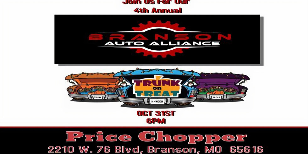 Branson Auto Alliance 4th Annual Trunk n Treat 🍬🍭