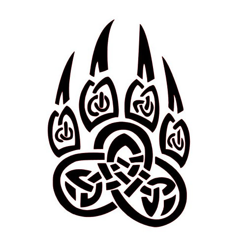 Celtic Bear Paw Vinyl Decal - Viking Bear Paw Stickers