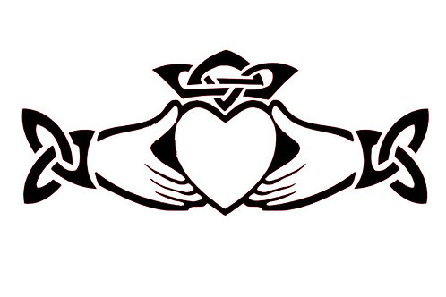 Claddagh Vinyl Decal - Celtic Stickers - Crown, Heart and Hands Celtic Decal