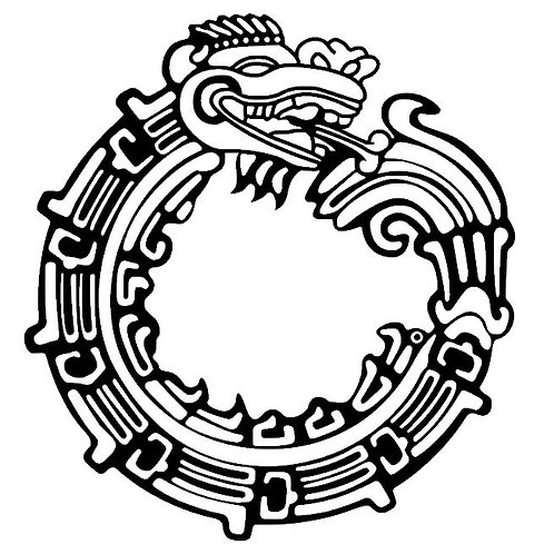 Ouroboros Quetazlcoatl Jormungr Aztec Maya Vinyl Decal