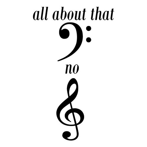 All About That Bass No Treble decal - Music Decals