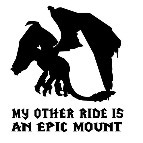 World of Warcraft Inspired Epic Mount Vinyl Decal - Drake Mount Decal