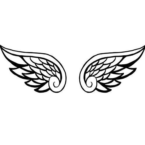Small Angel Wings Decal