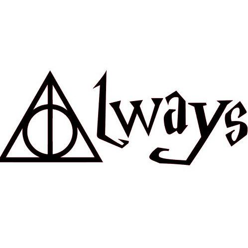 Always Deathly Hallows - Harry Potter Inspired Vinyl Decal