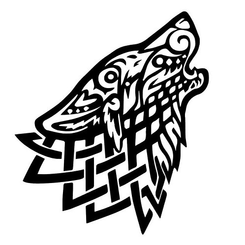Celtic Wolf Vinyl Decal - Viking Wolf Stickers