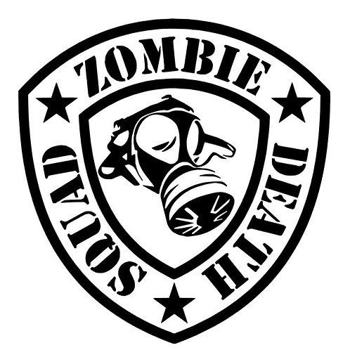 Zombie Death Squad Vinyl Decal - Gas Mask Sticker - Walking Dead - iZombie