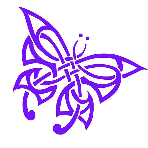 Celtic Knot Butterfly Decal