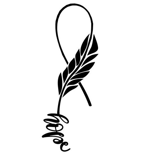 Awareness Ribbons - Feather Hope  Ribbon, Single Color - Breast Cancer Awarenes