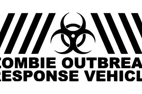 Zombie Outbreak Response Team  Bumper Sticker - Walking Dead - iZombie