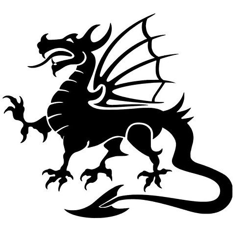 Sinister Dragon Rampant Vinyl Decal Bumper Sticker