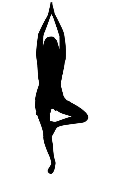 Tree Yoga Position Vinyl Decal - Yoga Stickers - Tai Chi Decals