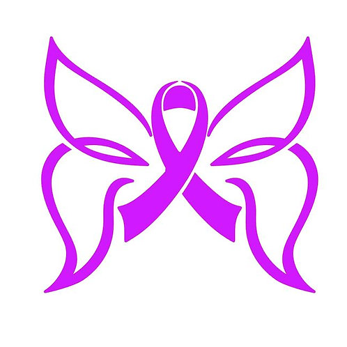 Awareness Ribbon Butterfly - Breast Cancer Awareness Decal-3