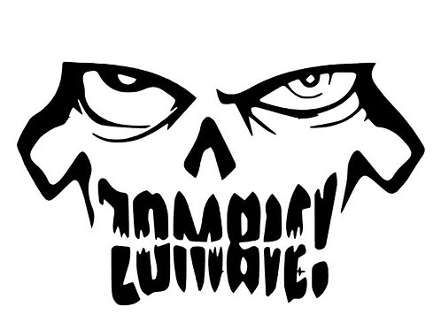 Zombie Teeth Vinyl Decal - Walking Dead Sticker - Zombie Face