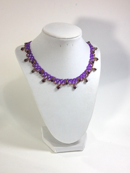 Tudor Style Netted Handmade Necklace