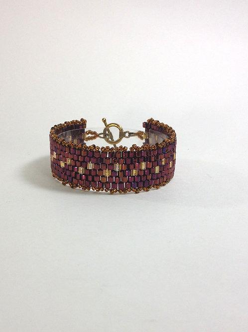 Peyote Pathway Hand Beaded Bracelet