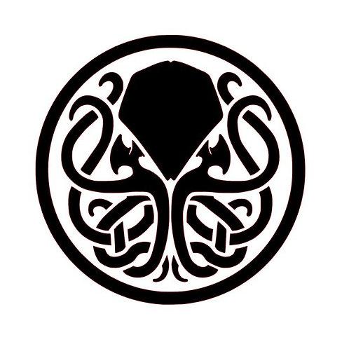 Kraken Vinyl Decal - Steampunk Stickers - Cthulu HP Lovecraftian Decals