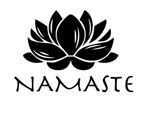 Namaste Lotus Vinyl Decal - Meditation Stickers - Buddhist Bumper Stickers