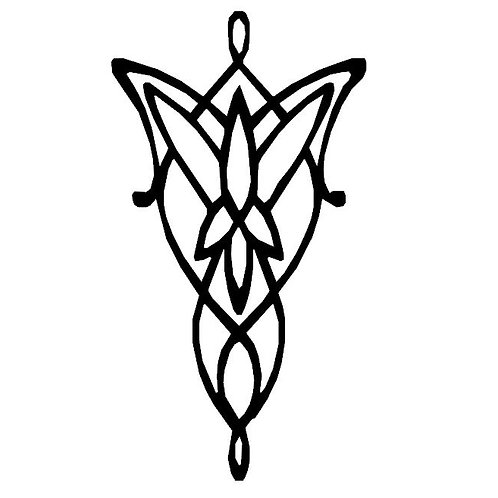 Arwen Evenstar Emblem Vinyl Decal - LOTR Inspired Stickers