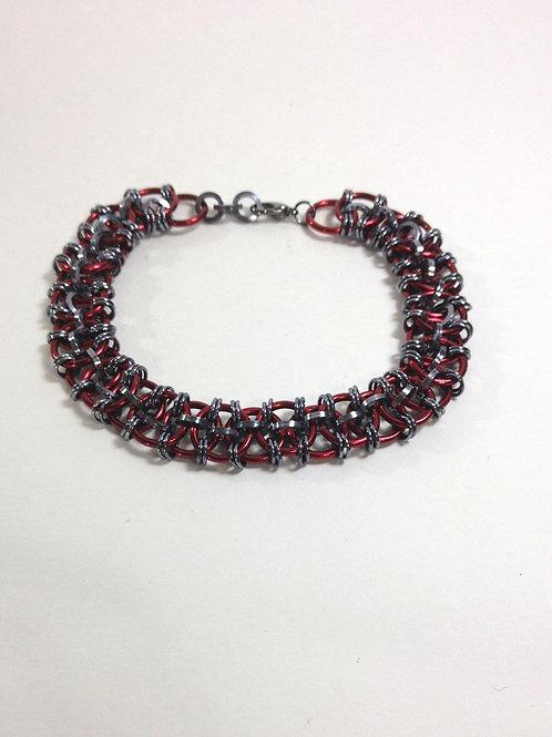 Viper Weave Chainmaille Handmade Bracelet