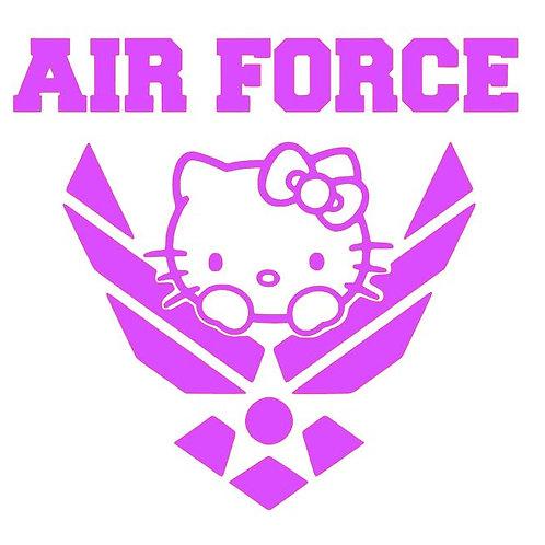 Kitty Air Force Emblem - USAF kitten vinyl decal